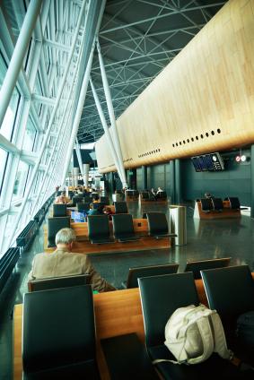 Zurich international airport lobby